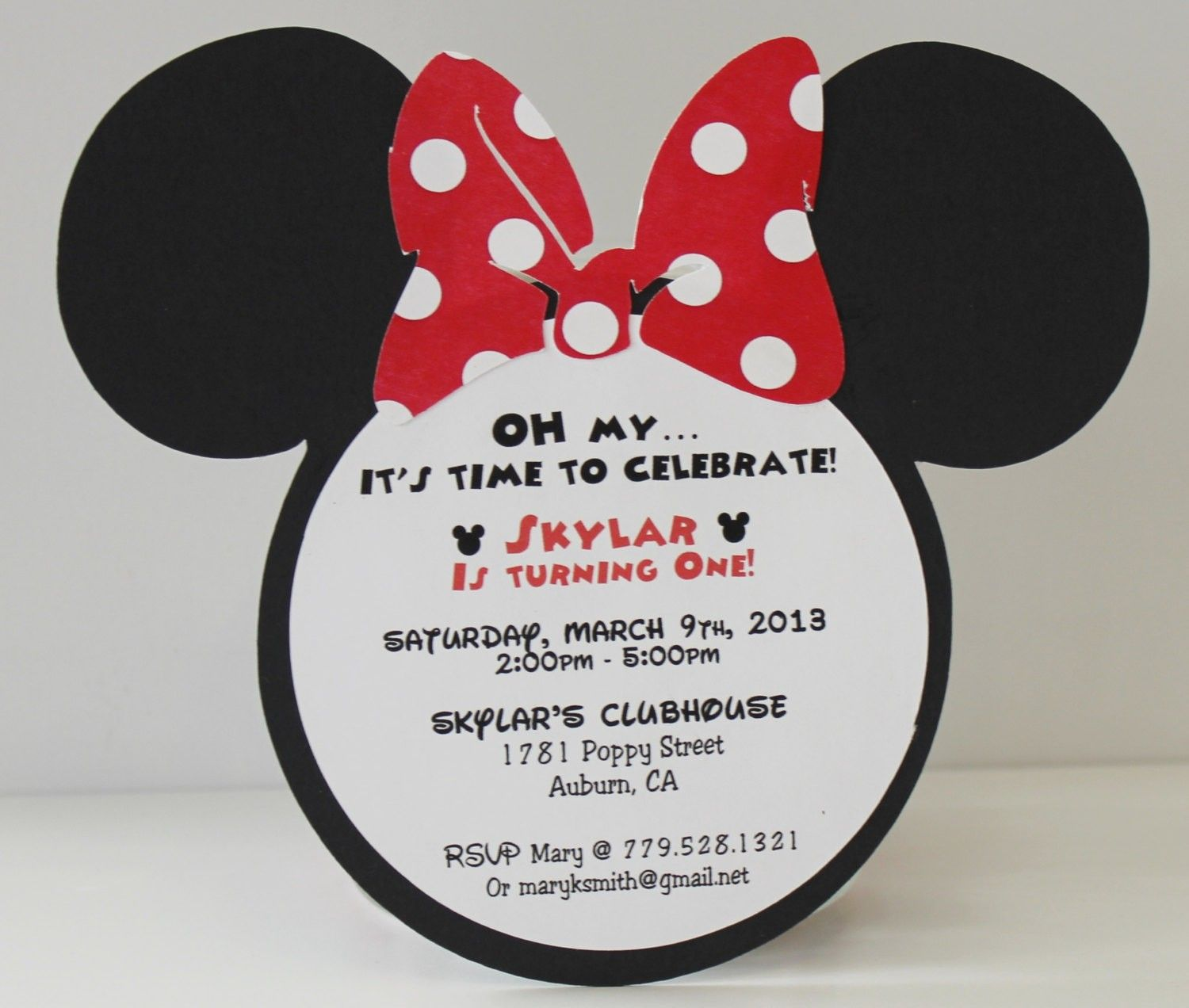 Minnie Mouse Birthday Invitation Wording For Kids