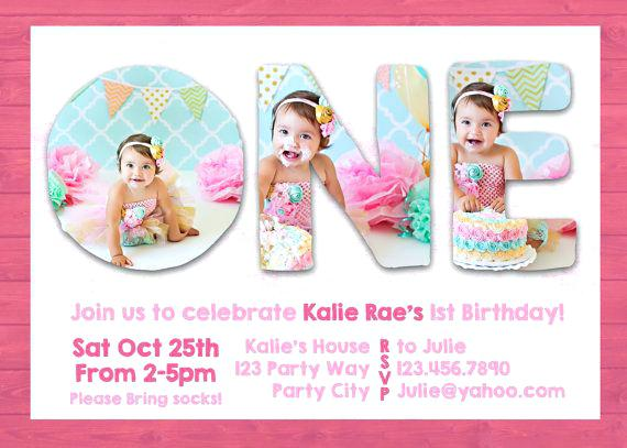 Baby Girl 1st Birthday Invitation Templates Trend With Baby Girl