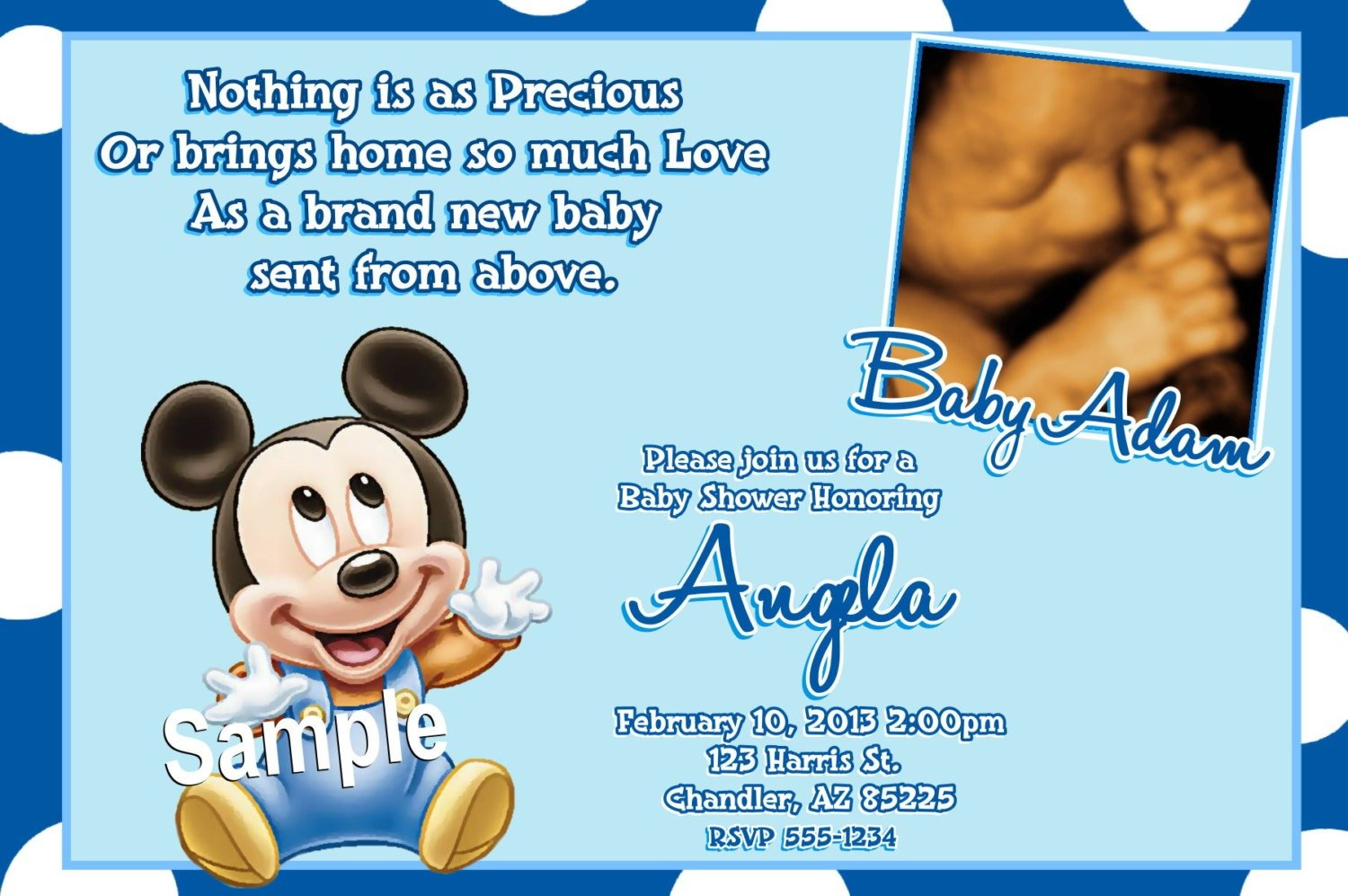Baby Mickey Mouse Background For Christening 5 » Background Check All