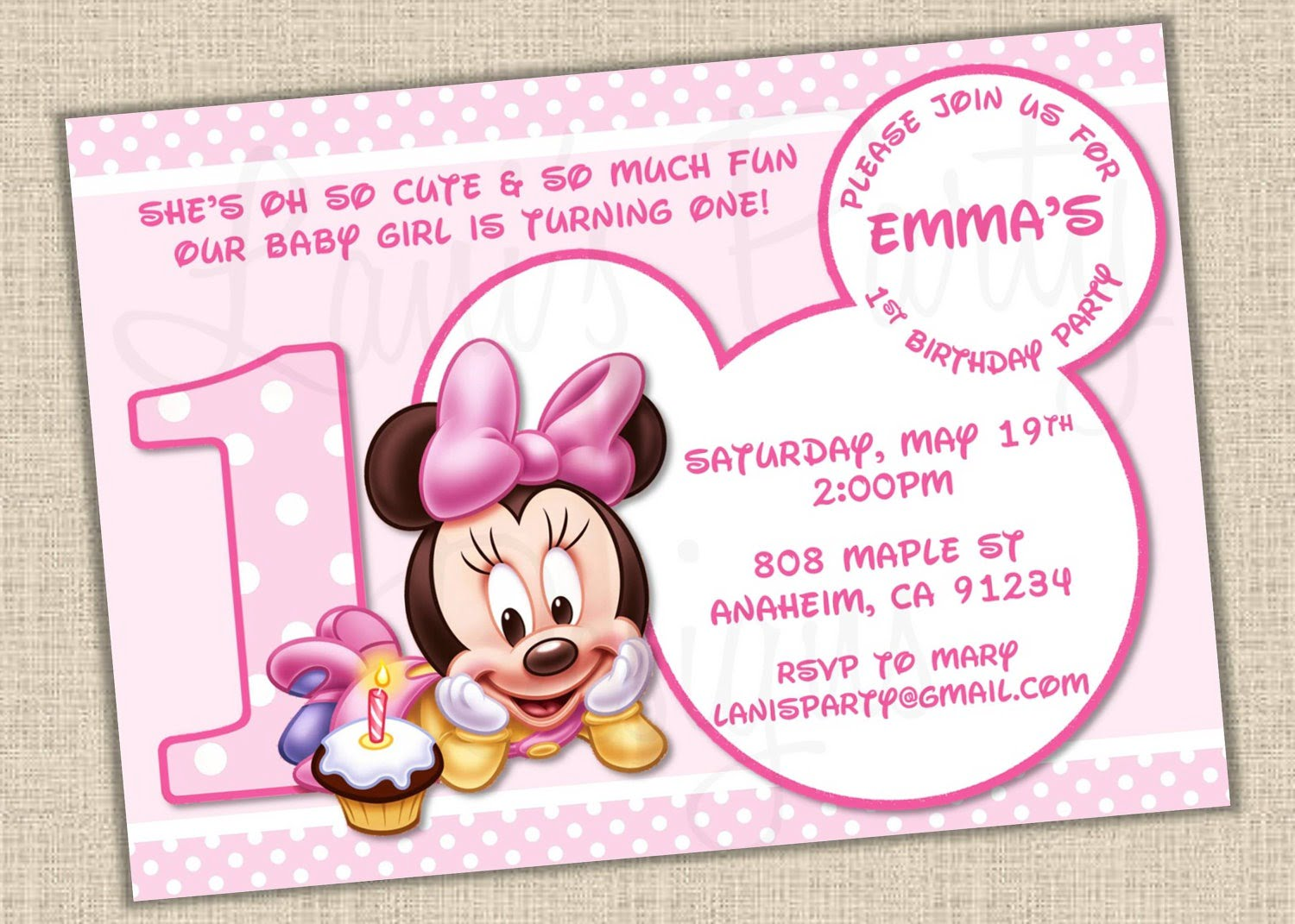 Minnie Mouse Printable Invitations