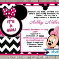 Baby Shower Invitations Free Printable Mini Mouse