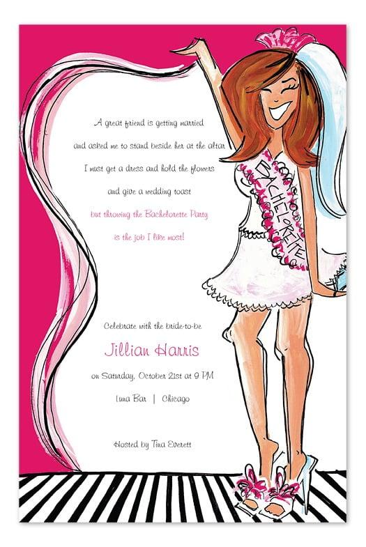 T Bachelorette Party Invitations Fabulous Bachelorette Party
