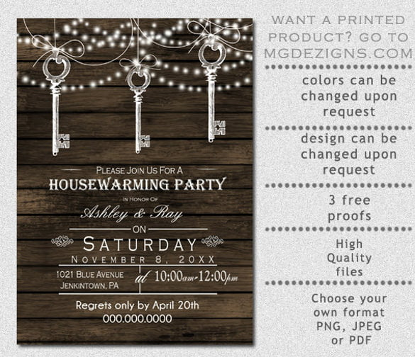 Invitation Ideas  Housewarming Party Invitations Template Free