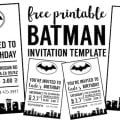 Free Batman Invitations Templates