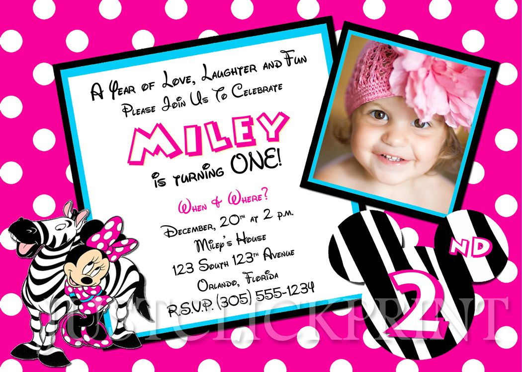 Bcbefdefdfddfbb Trend Minnie Mouse Birthday Party Invitations Free