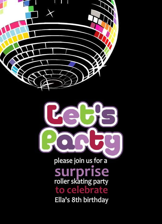Bceaaecdfecdf Lovely Disco Invitations Free Template