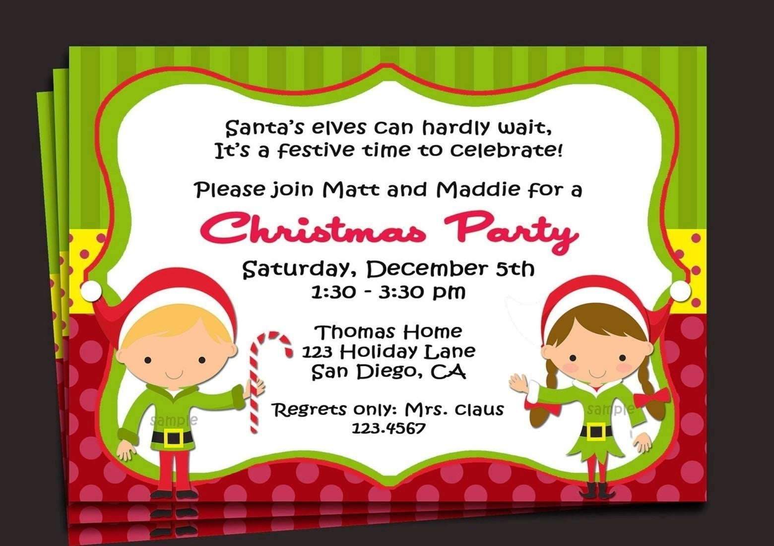 Best Free Printable Christmas Party Invitations Templates 50 On