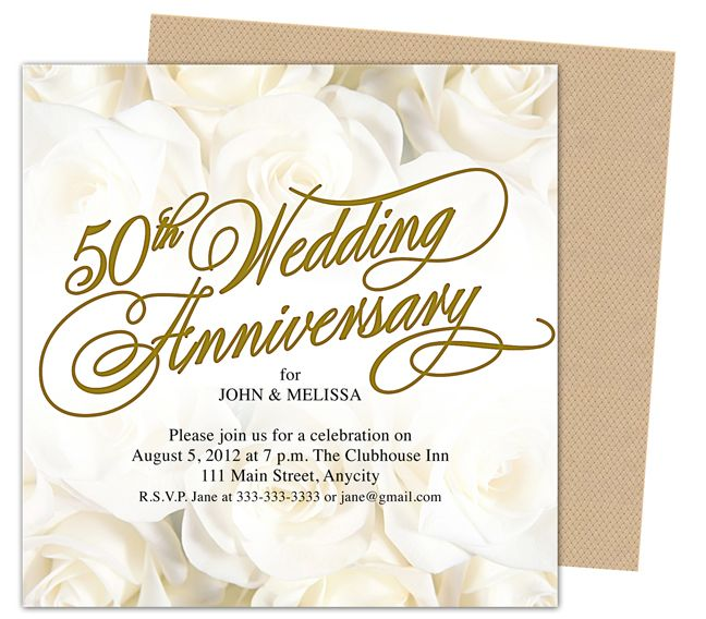 Bfbadcbfee Amazing 50th Wedding Anniversary Invitation Templates