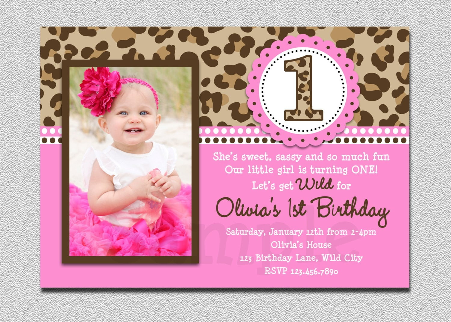Birthday Invitation Cards For Baby Girl Father Day Gifts From
