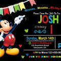 Mickey Mouse Birthday Invitation Templates Download