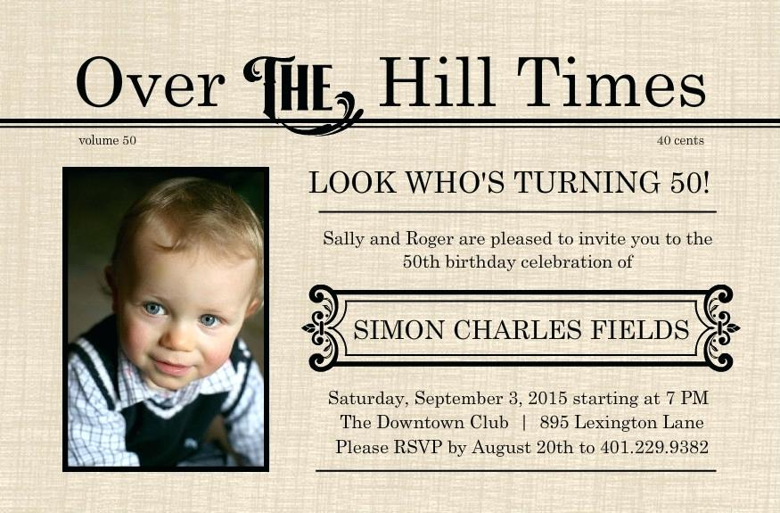 Surprise 50th Birthday Invitation Templates Free Elegant Birthday