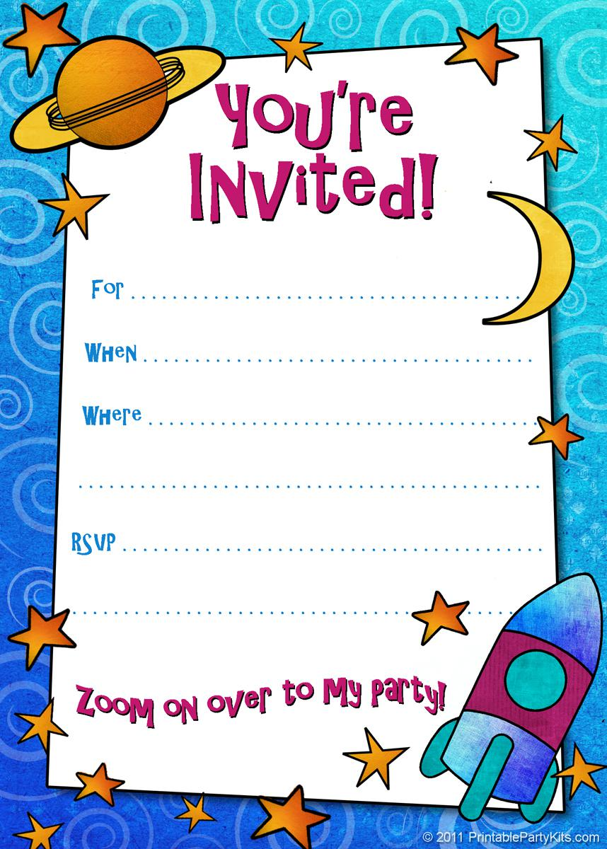 Birthday Invitations For Kids Free Sample Templates Marvelous Free