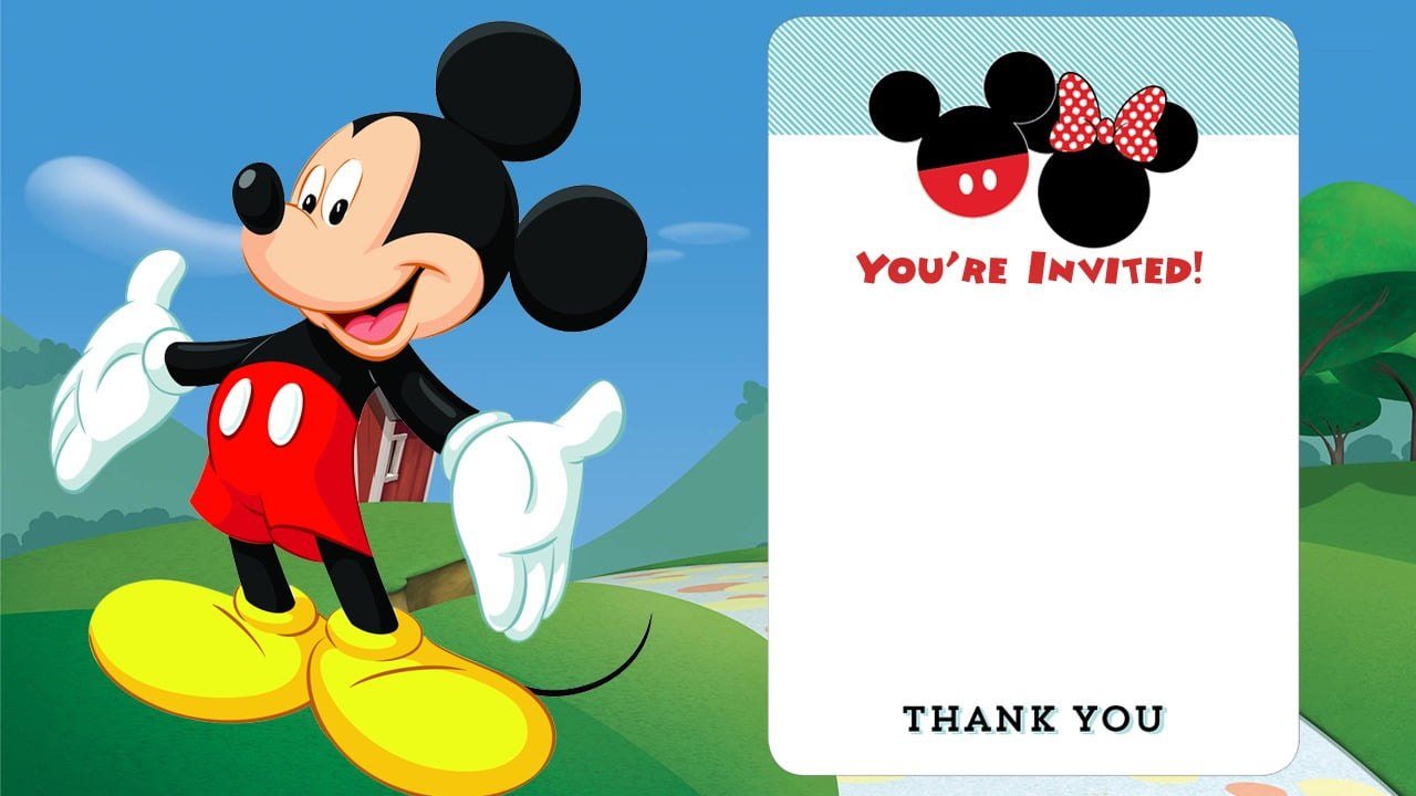 Free Printable Mickey Mouse Invitations – Exclusive Selection