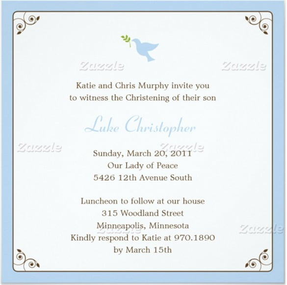 Baptism Invitations Templates Dedication Invitation Template