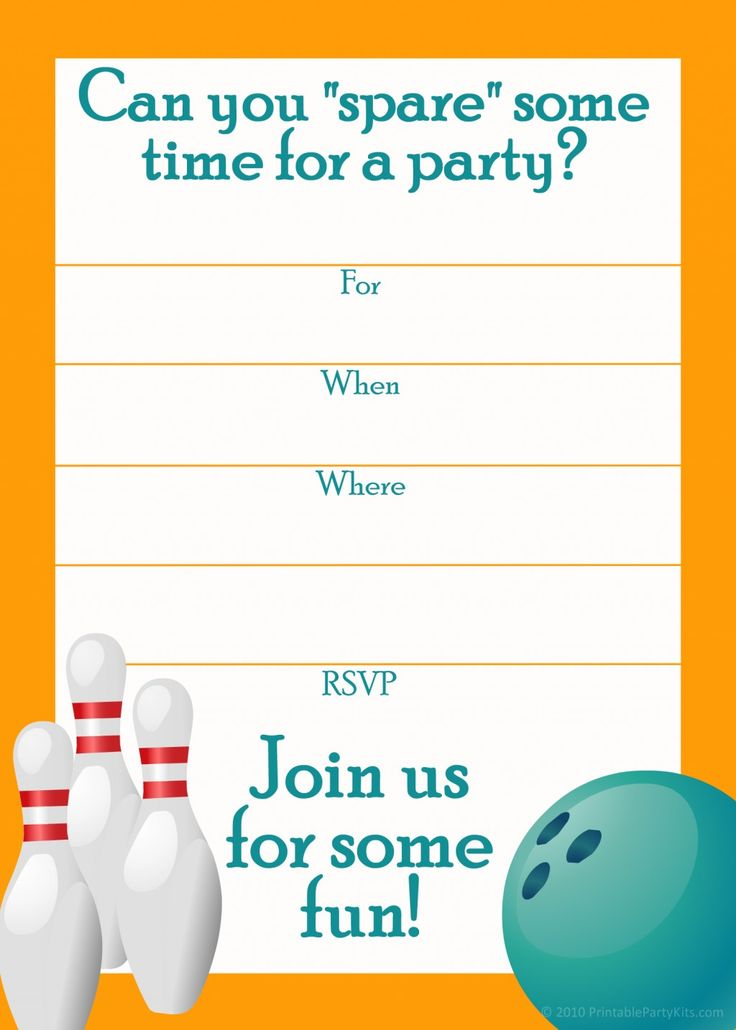 Bowling Party Invitation Template Best Bowling Party Free