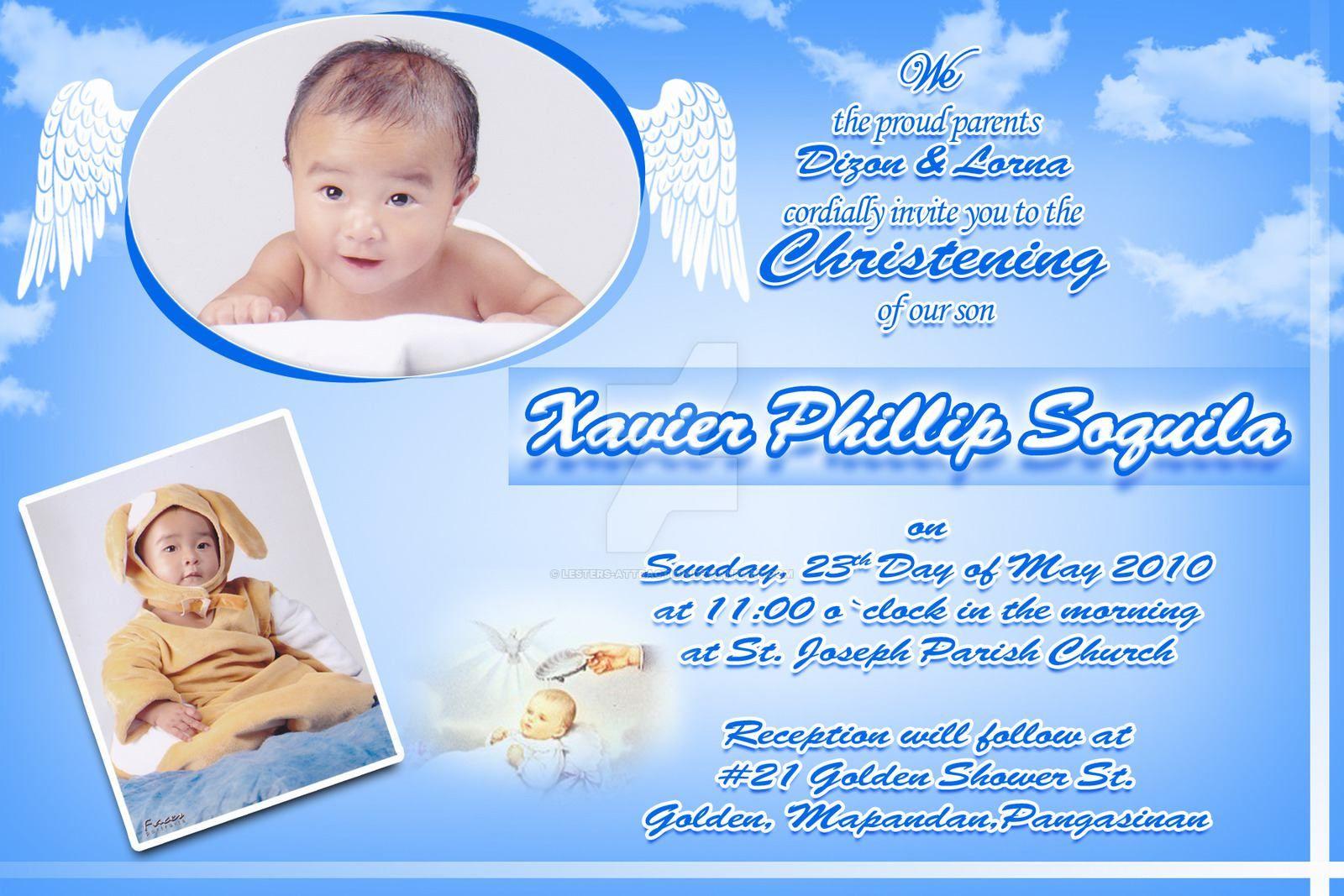 Christening Invitation Card Maker   Christening Invitation Card