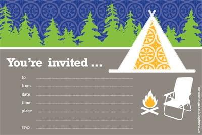 Camping Birthday Invitations Plus Camping Birthday Invitation Free