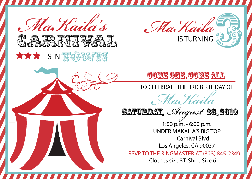 Carnival Invitation Template Free Download New With Carnival