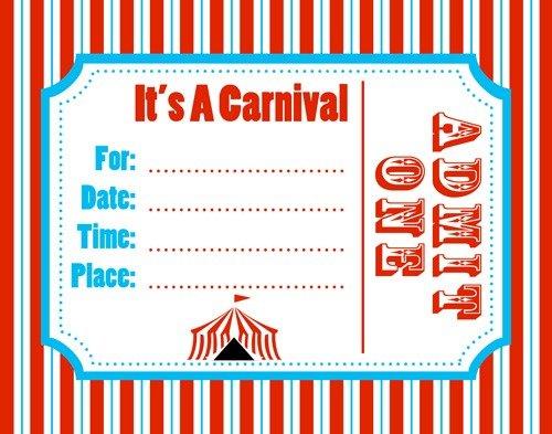 Carnival Invites Trend Circus Birthday Invitation Template Free