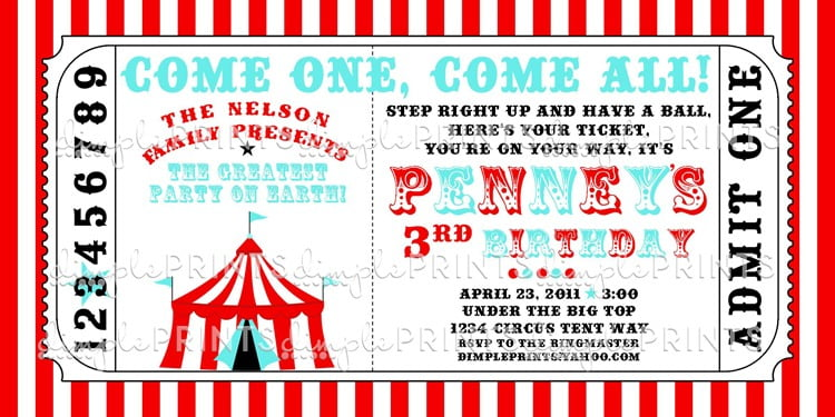 Carnival Ticket Invitation Template Free Good Design Carnival