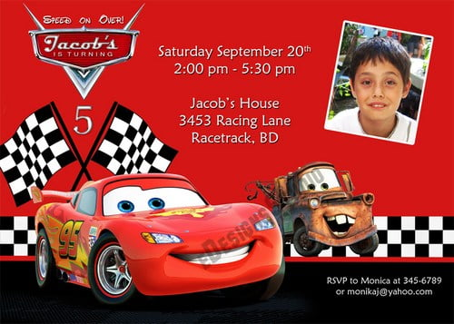 Invitation Ideas  Cars Birthday Party Invitation