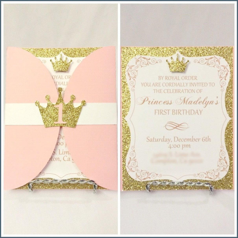 Birthday Invitations  Various Choices Of Princess Birthday