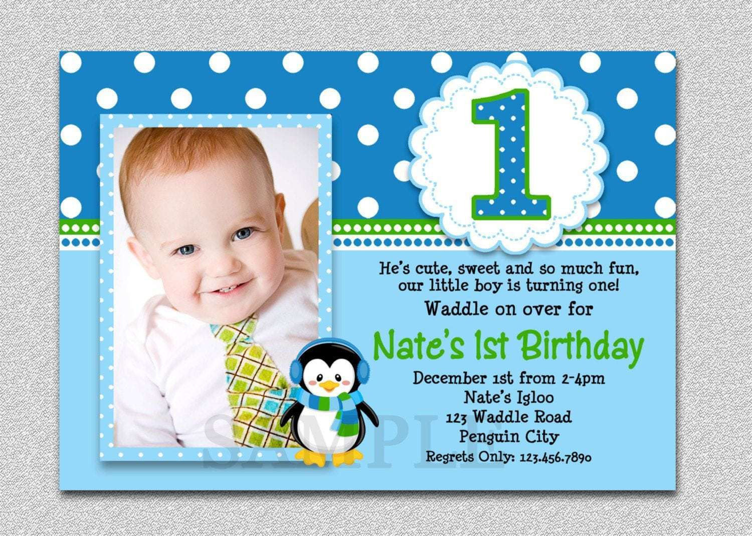 Sample Invitation Card For Christening And Birthday