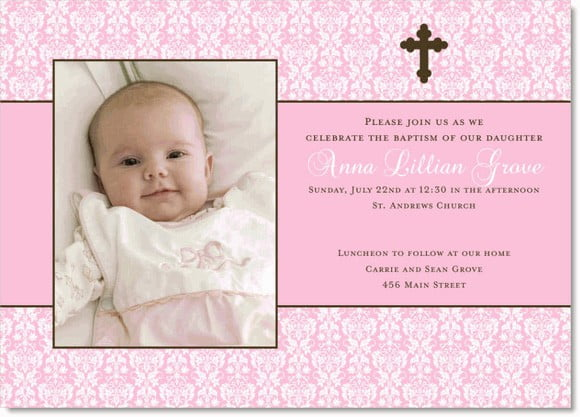 Christening Invitation Templates Free Printable Awesome Design