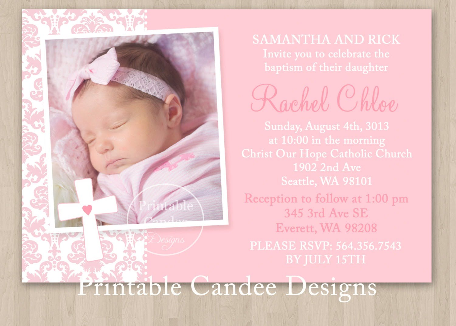 Christening Invitations Templates Free Download Invitation Letter