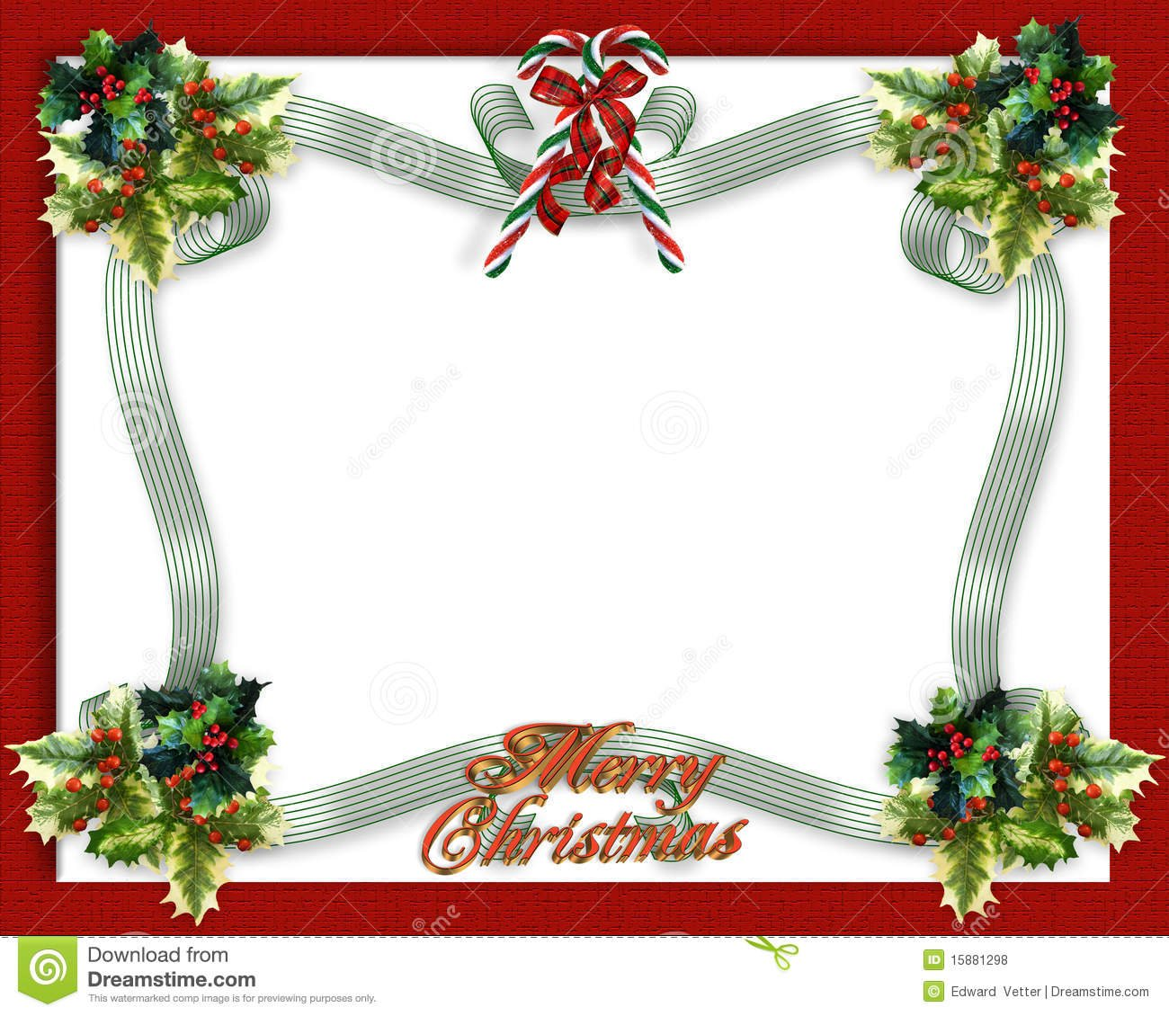 Christmas Border Ribbons Stock Illustration  Illustration Of
