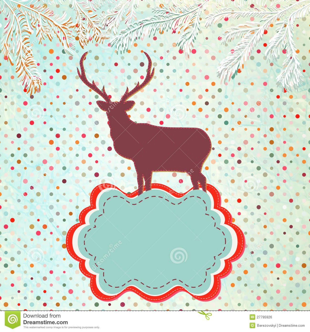 Christmas Invitation Card Template  Eps 8 Stock Vector
