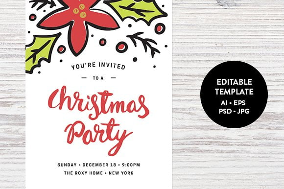 Decbfceebecedd Perfect Christmas Party Invitation Template