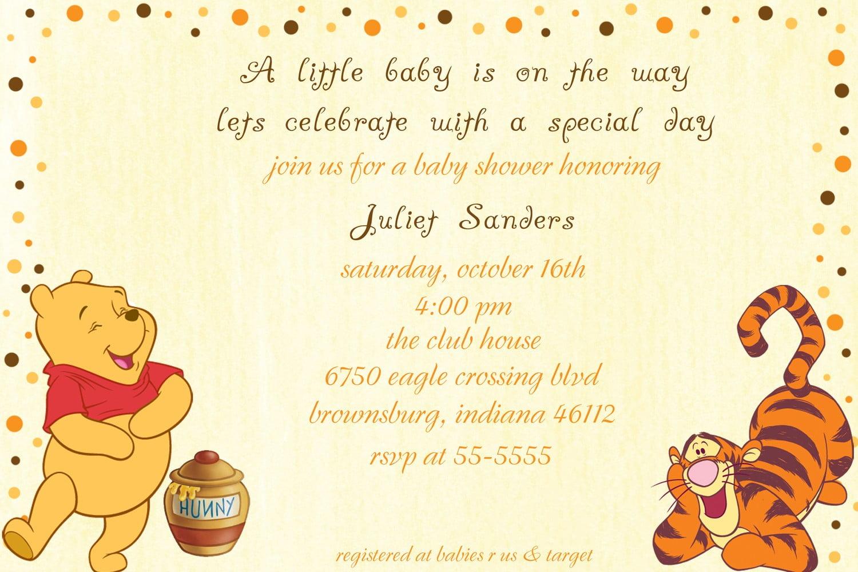 Classic Winnie The Pooh Invitations For Baby Shower Amazing Winnie