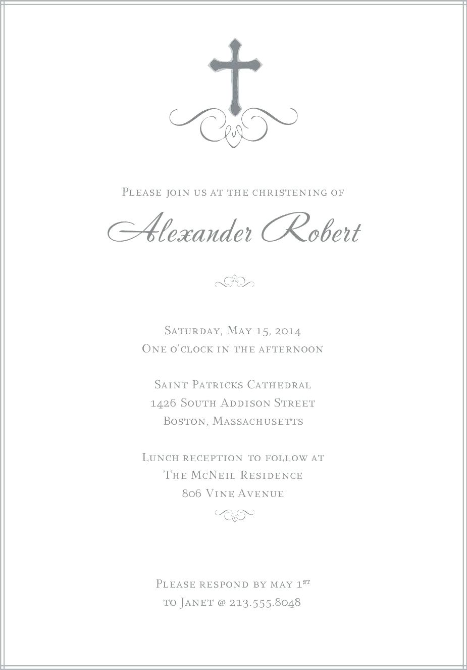 Confirmation Invites Template Baptism Invitations Templates Free