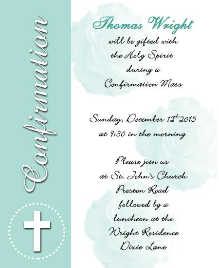 Pictures Of Confirmation Invitations Templates Printable