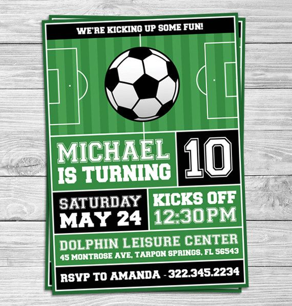 Soccer Ticket Pass Birthday Party Invitation Rffcaaacfb Zkgb Cute