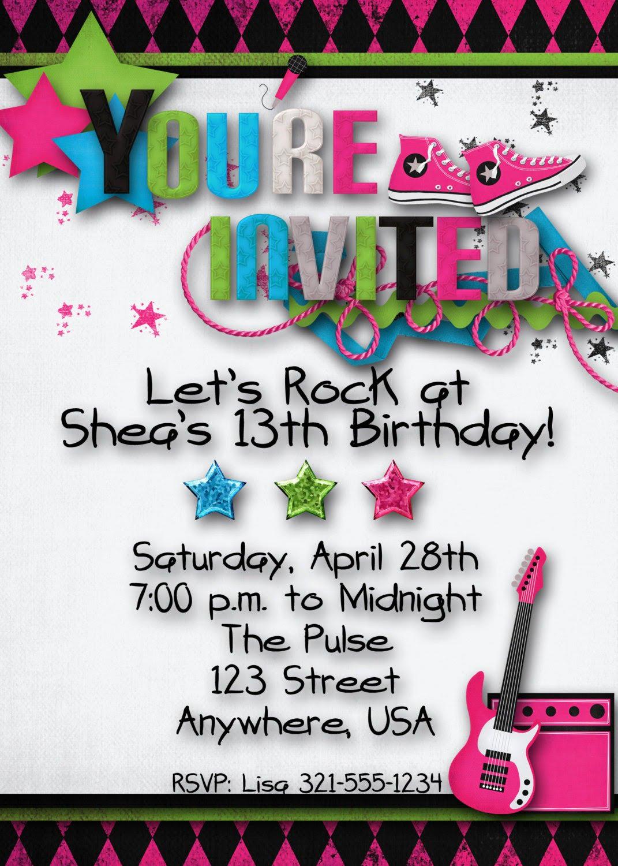 Printable Birthday Party Luxury Teenage Party Invitations