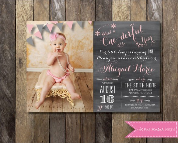 Invitation Template  First Birthday Templates Invitations Free