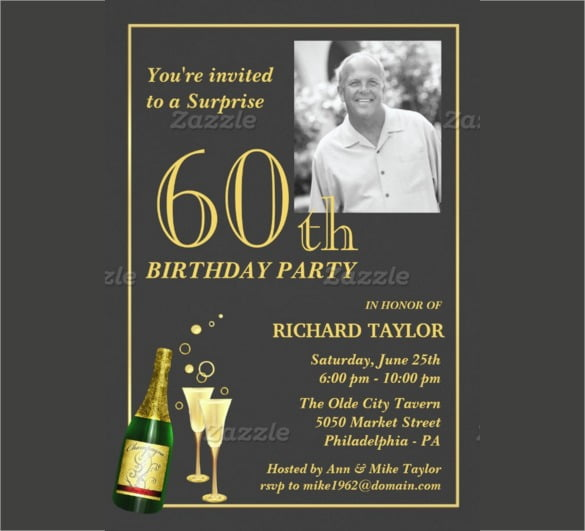 Customized Th Birthday Party Invitation With Customizable