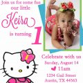 1st Birthday Invitations Hello Kitty