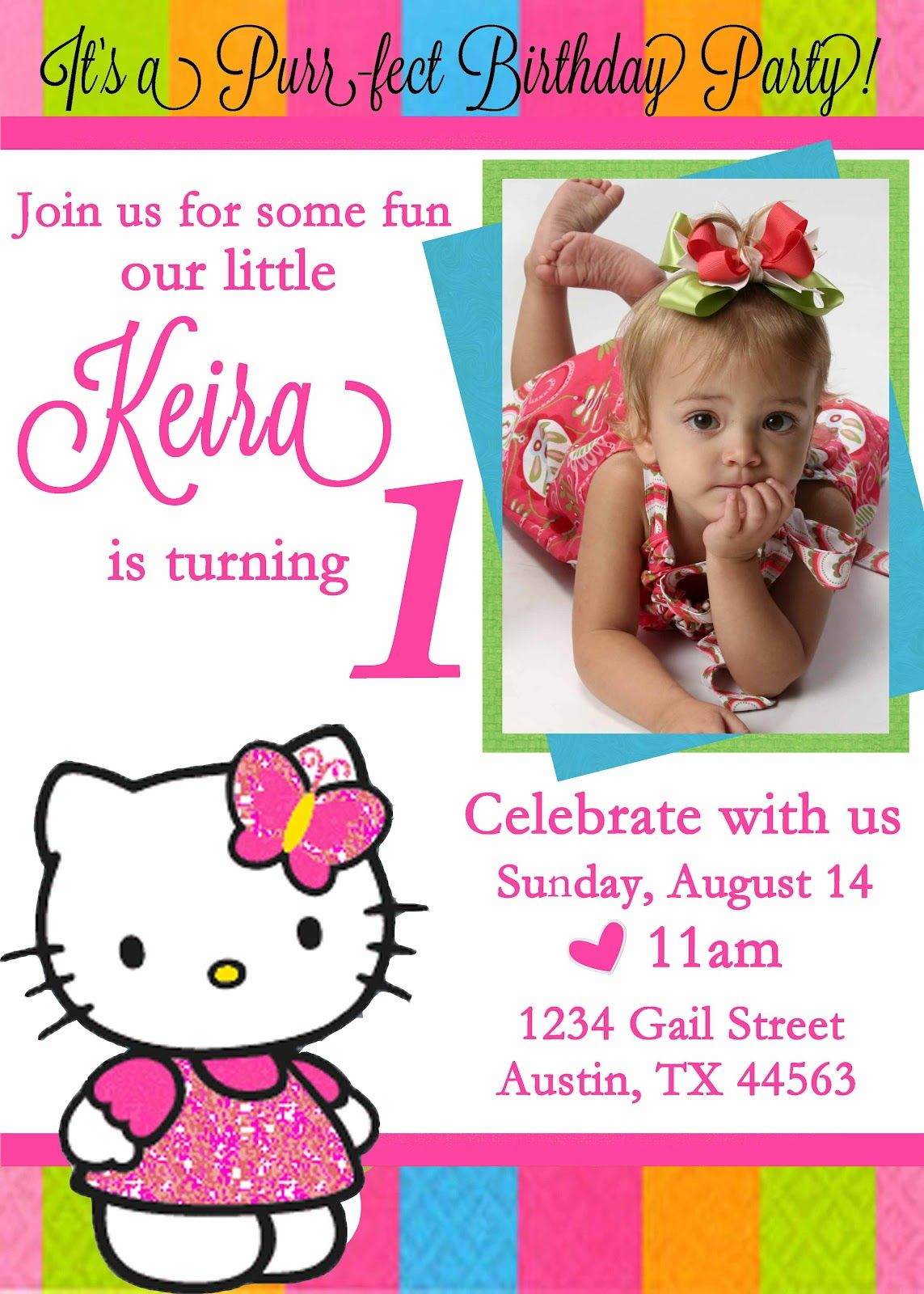 What  Come And Join My 1st Birthday Party When  Monday, October 03