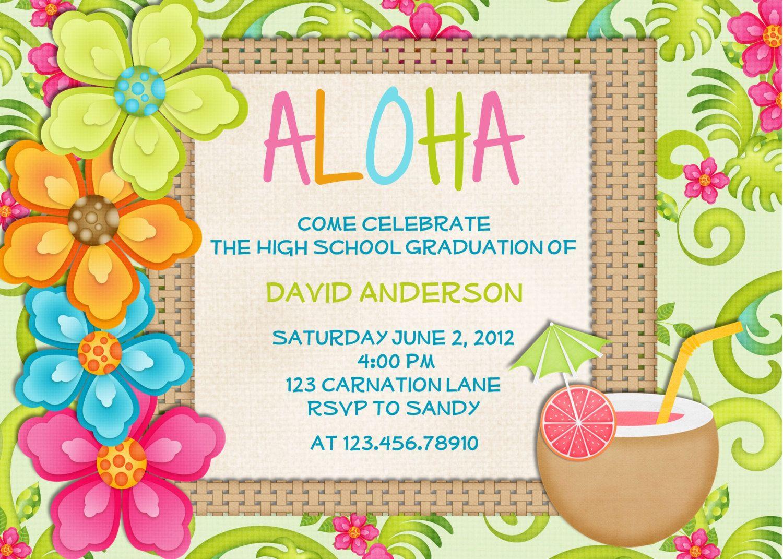 Free Beach Themed Birthday Invitations