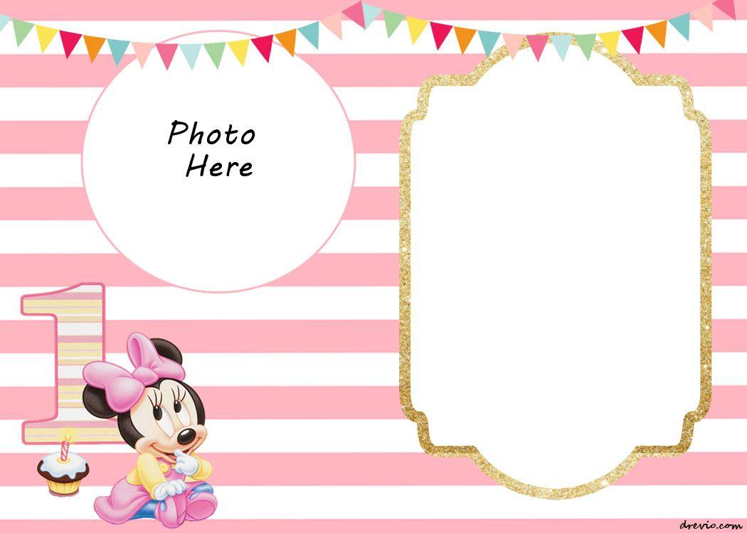 Ddcfabeec Amazing Minnie Mouse 1st Birthday Invitations Free