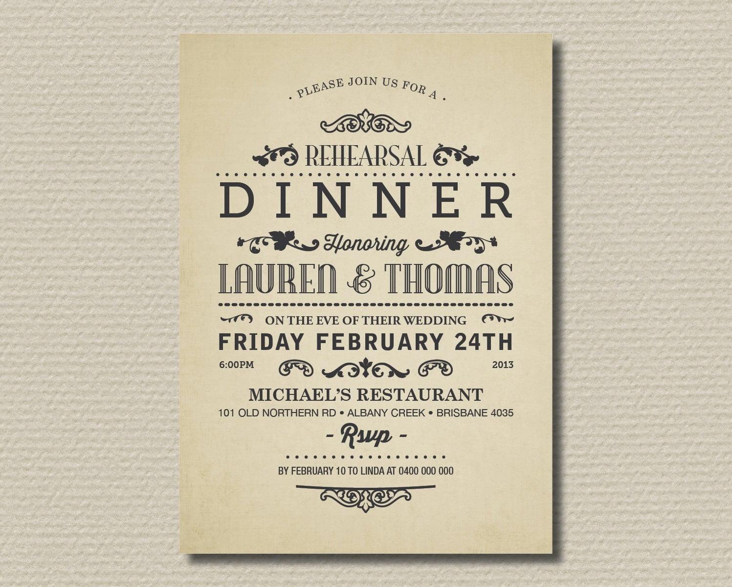 Dinner Invitation Templates Free Sample Example Format High