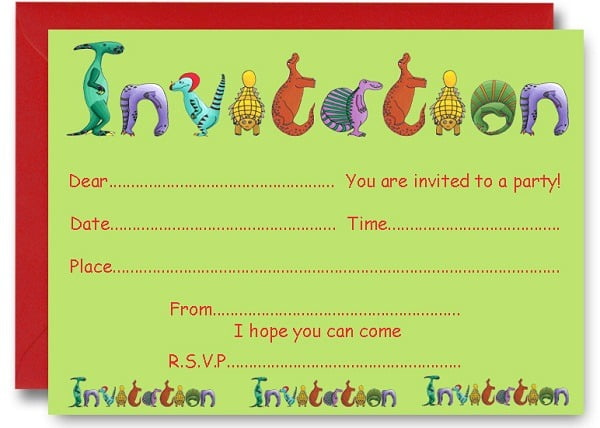 Dinosaur Birthday Party Invitations Free Printable Nice Free