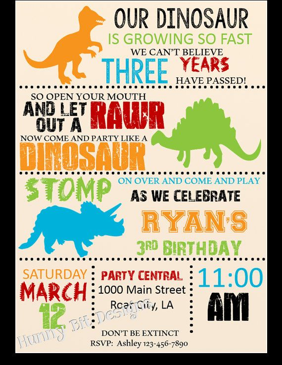Dinosaur Birthday Party Invitations Perfect Dinosaur Birthday