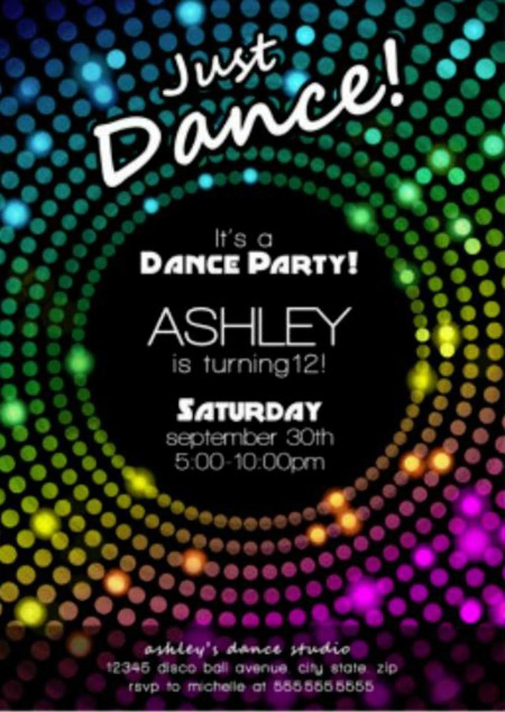 Free Disco Party Invitation
