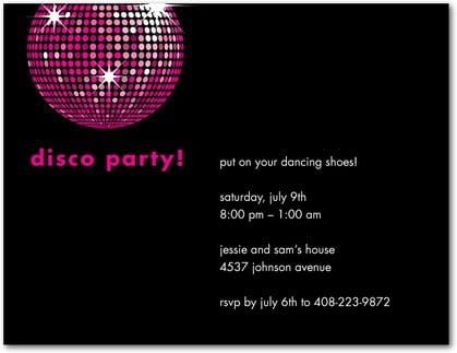 Disco Party Invitations Disco Party Invitations With Glamorous