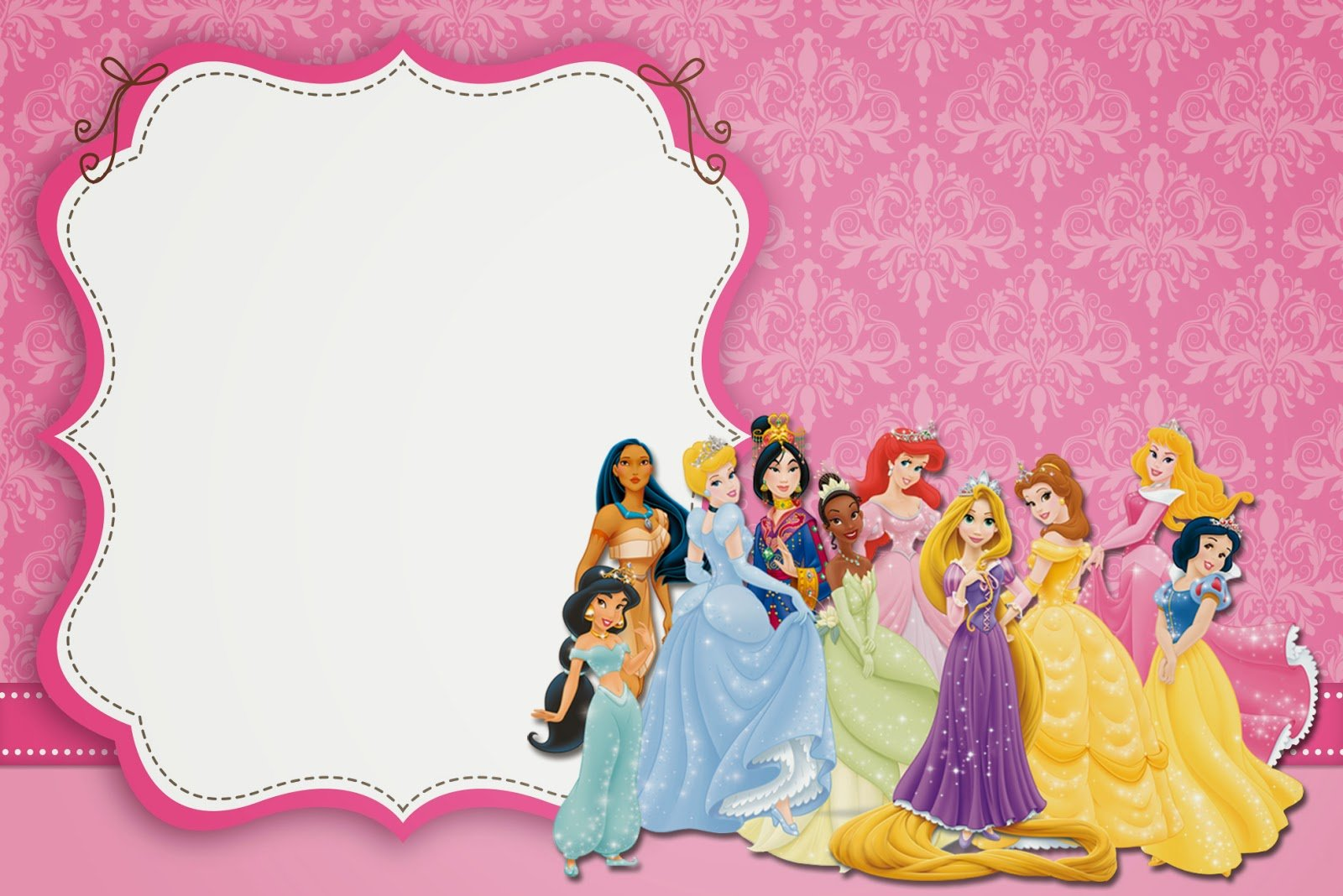 Disney Princess Party  Free Printable Party Invitations