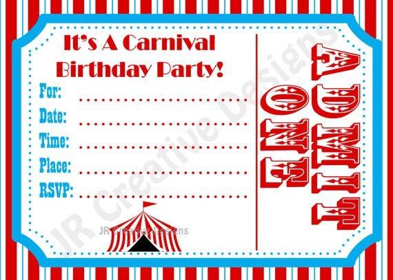 Edcefdbfbeced Trend Carnival Invitation Template Free Download